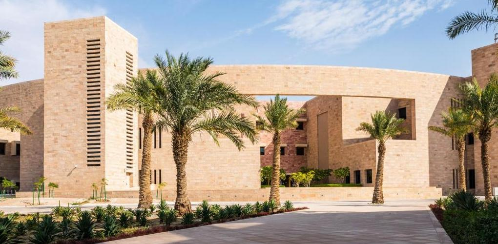 Exterior image of CMU-Qatar library.