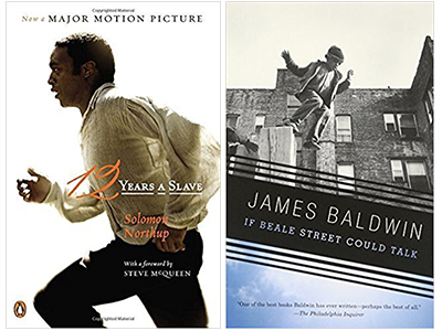 Books covers for 12 Years a Slave and If Beale Street Could Talk