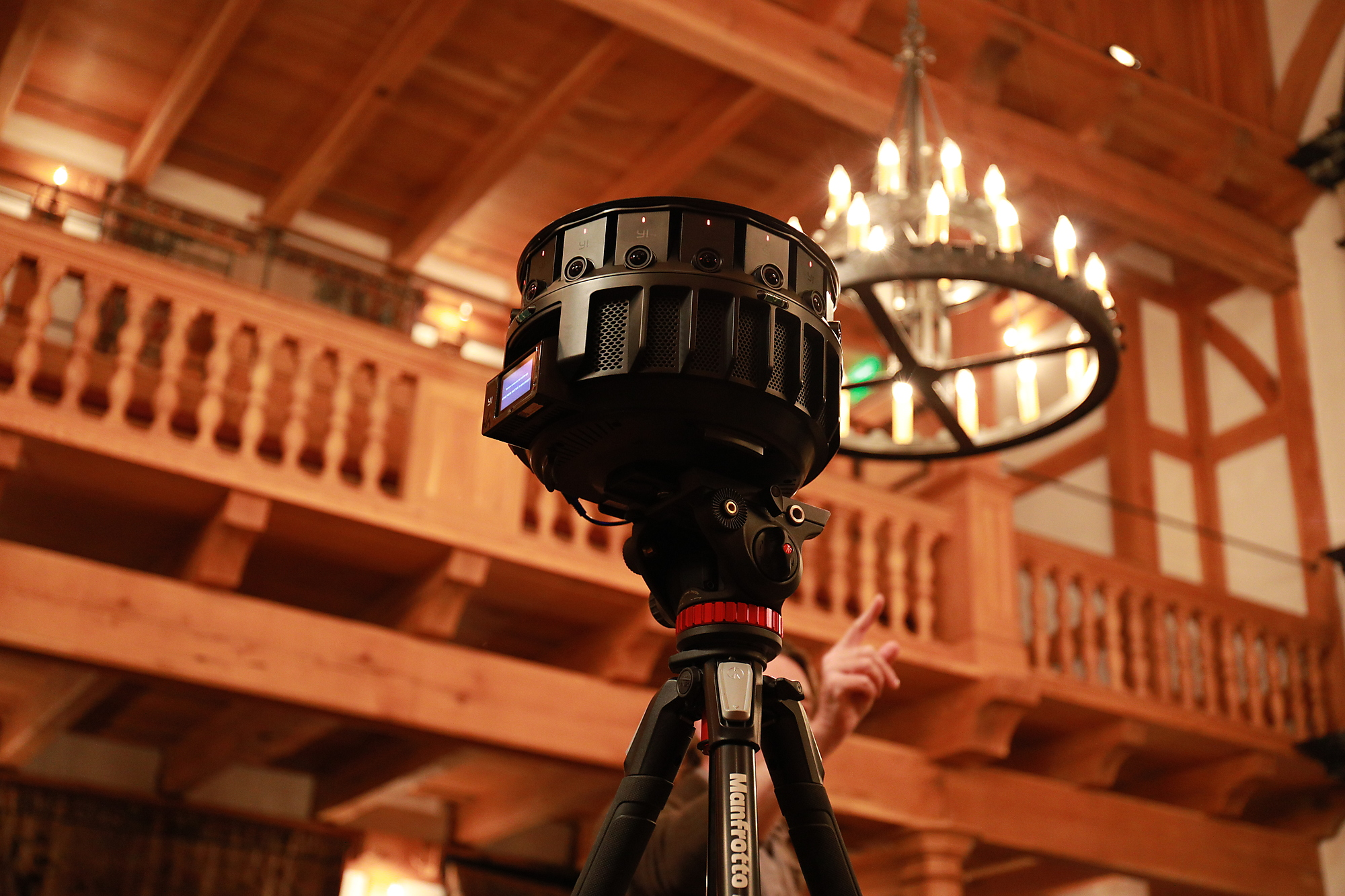 360-degree camera used in the filming of Hamlet for the Shakespeare-VR project