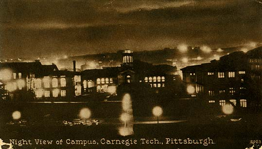 Postcard depicting CMU campus