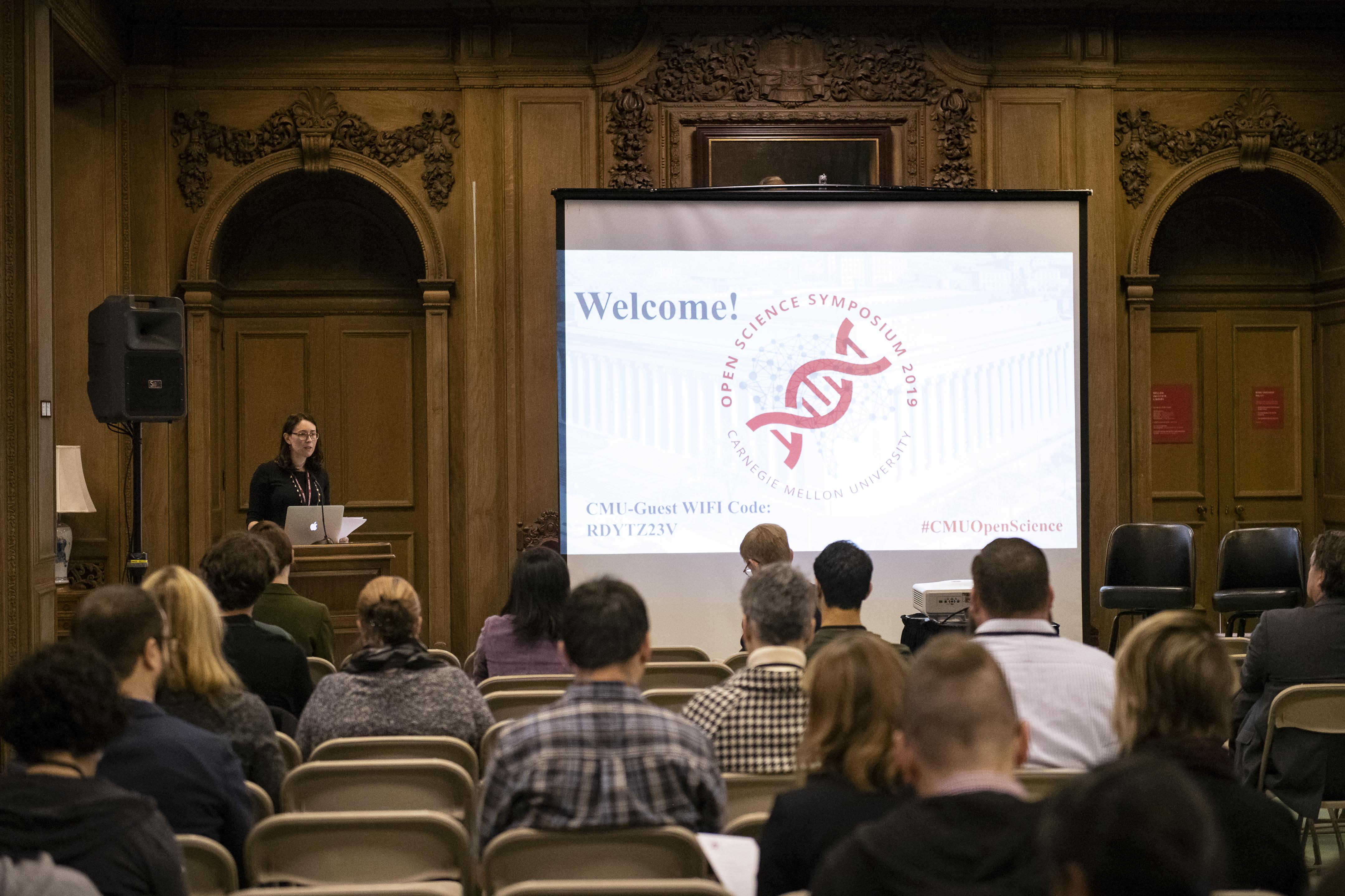 Ana Van Gulick at Open Science Symposium