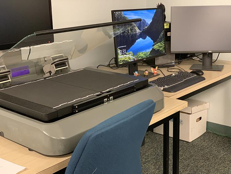 Scanner in digitization lab